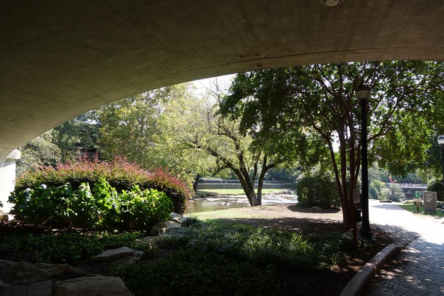 Under the Main Street Bridge